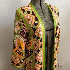 VINTAGE 1970's MAXI PSYCHEDELIC FLORAL DUSTER